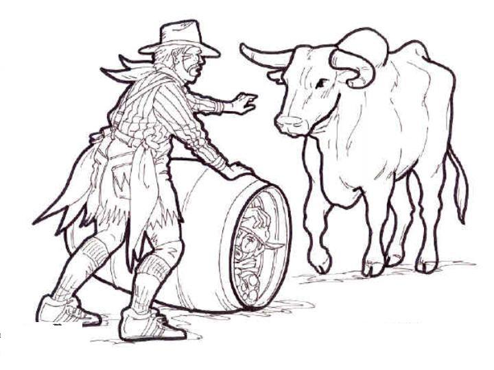 Pinterest the world s catalog of ideas for Bucking bull coloring pages