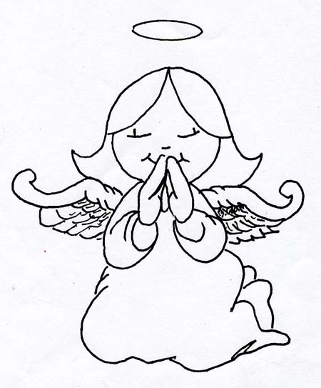 Line Drawing Angel : Religious prints etches by fred